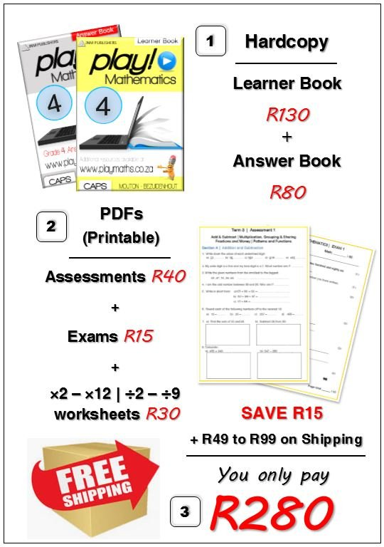 Gr 4 Bundle Deal - Maths/ Wiskunde