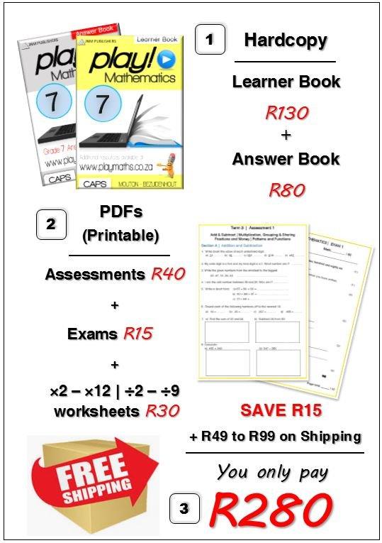 Gr 7 Bundle Deal - Maths/ Wiskunde