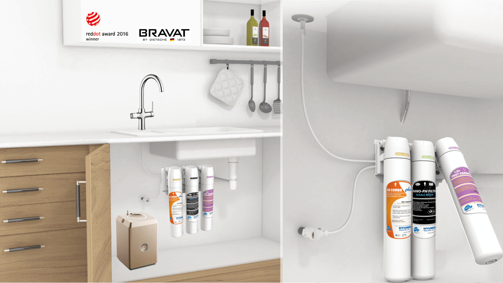 Bravat Equatre with 3 Stage Filter Installation
