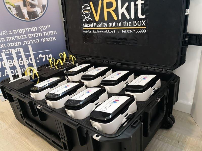 ערכת מציאות מדומה VRKIT - המזוודה והחומרה