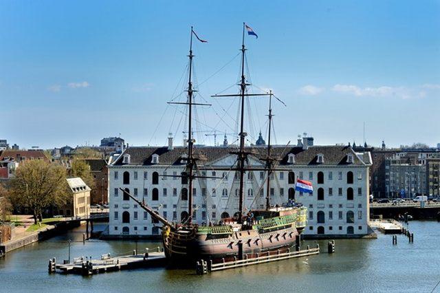 المتحف البحري في هولندا امستردام من اهم معالم مدينة امستردام الهولندية