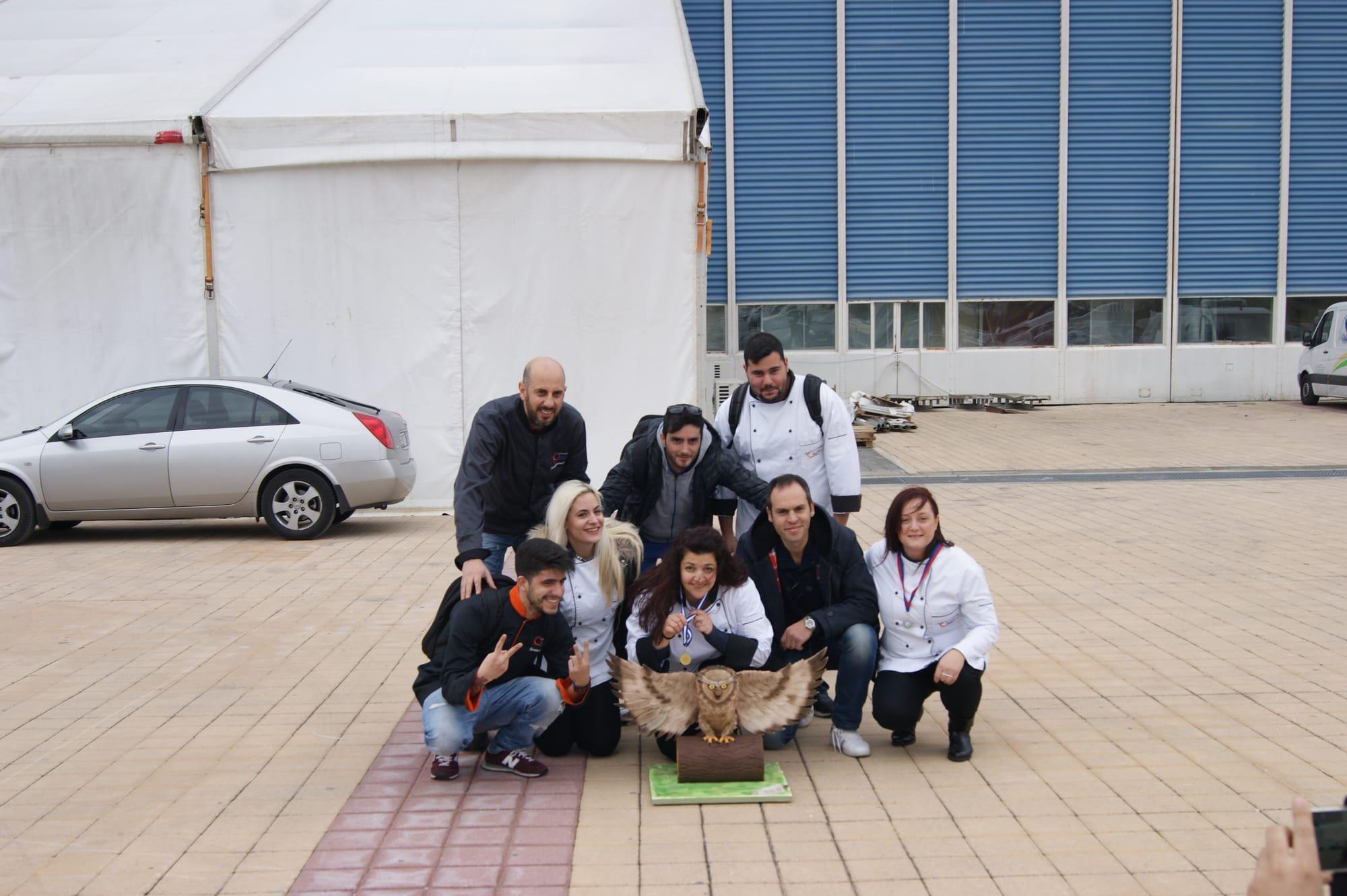 Χρυσό Πανελλαδικό Βραβείο στο Πανελλήνιο Διαγωνισμό Expotrof 2017 με έκθεμα από ζαχαρόπαστα