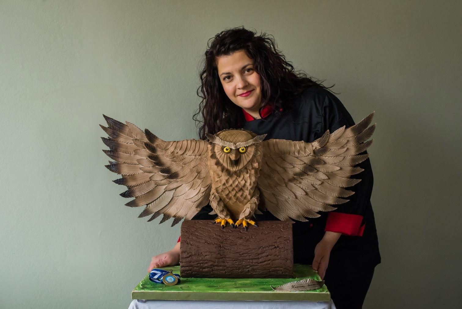 Χρυσό Πανελλαδικό Βραβείο στο Πανελλήνιο Διαγωνισμό Expotrof 2017 (the Owl) από ζαχαρόπαστα
