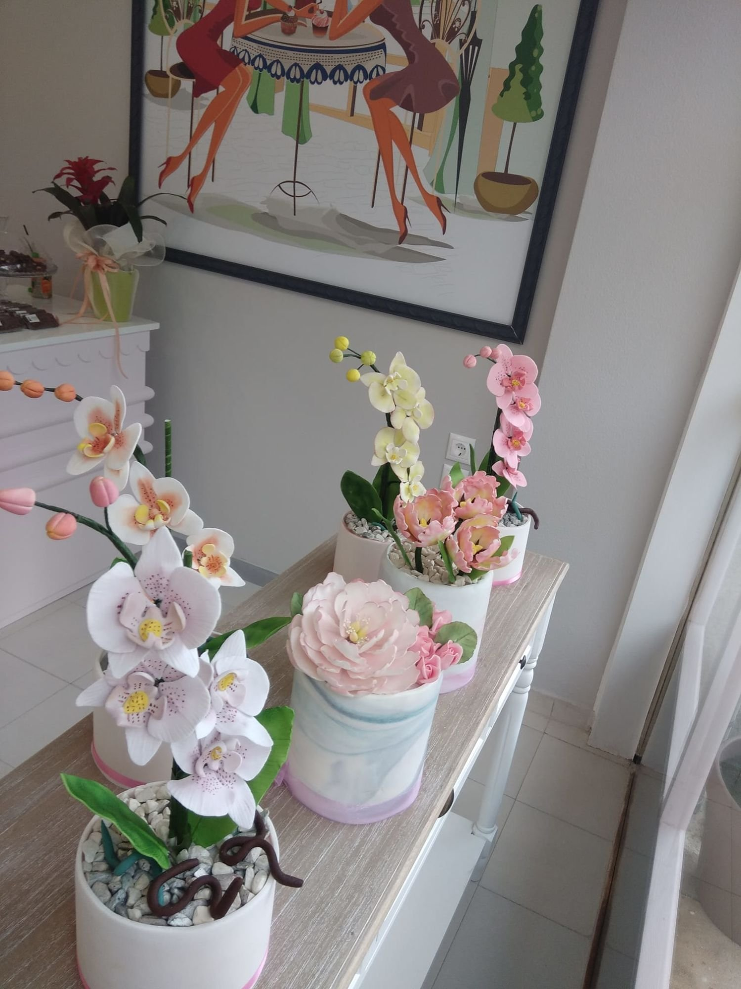 λουλούδια από ζαχαρόπαστα ζαχαροπλαστείο καλαμάτα madamecharlotte.gr, birthday cakes 2d 3d confectionery patisserie kalamata