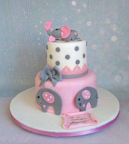 τούρτα από ζαχαρόπαστα ελεφαντάκια Ζαχαροπλαστειο καλαματα madame charlotte, birthday party cakes 2d 3d confectionery patisserie kalamata