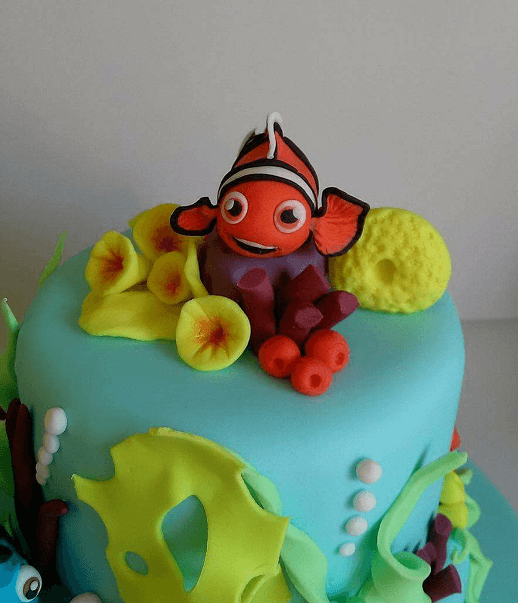 τούρτα γενεθλίων από ζαχαρόπαστα nemo & dory Ζαχαροπλαστειο καλαματα madame charlotte, birthday cakes kalamata