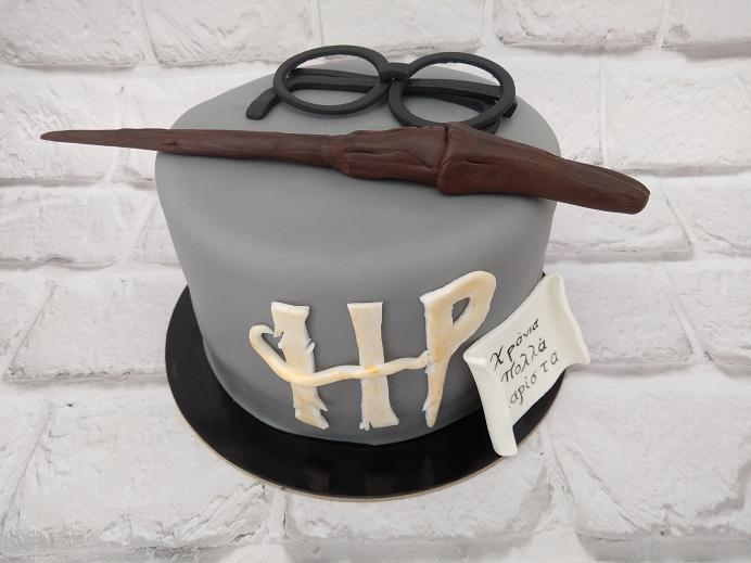 τούρτα από ζαχαρόπαστα harry potter Ζαχαροπλαστείο καλαμάτα madamecharlotte.gr, birthday cakes 2d 3d confectionery patisserie kalamata