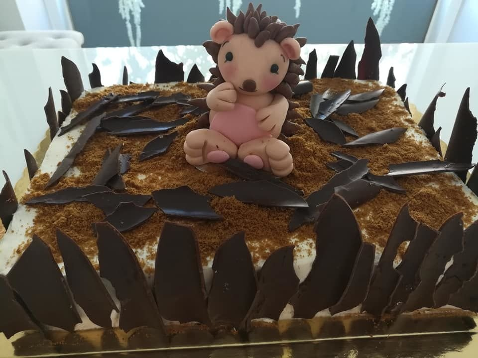 τούρτα χωρίς ζαχαρόπαστα σκαντζόχοιρος, ζαχαροπλαστείο καλαμάτα madame charlotte, birthday wedding party cakes 2d 3d kalamata