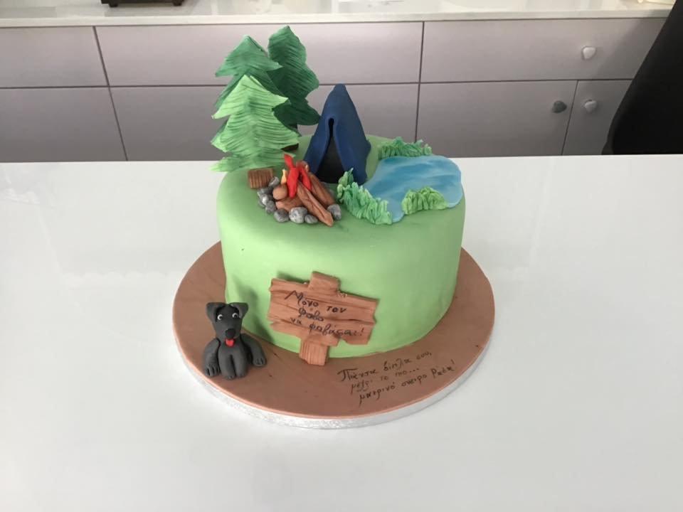 τούρτα από ζαχαρόπαστα Bear Grylls - You vs Wild, Ζαχαροπλαστείο καλαμάτα madame charlotte, τούρτες γεννεθλίων γάμου βάπτησης παιδικές θεματικές birthday theme party cake 2d 3d confectionery patisserie kalamata