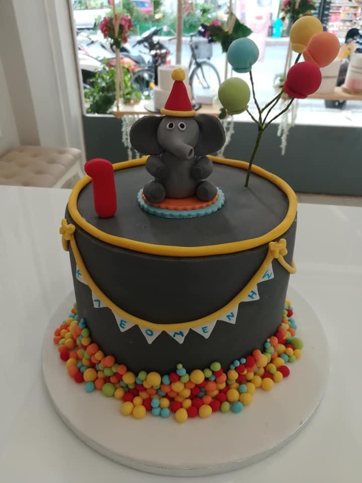 τούρτα από ζαχαρόπαστα ελεφαντάκι, Ζαχαροπλαστείο καλαμάτα madame charlotte, τουρτες παρτι παιδικες γενεθλιων για αγόρια για κορίτσια για μεγάλους madamecharlotte.gr birthday cakes patisserie confectionery kalamata
