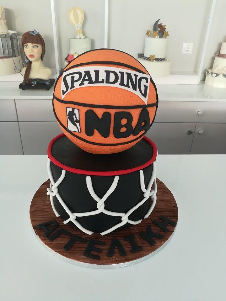 τούρτα από ζαχαρόπαστα nba basket μπάλα μπάσκετ, Ζαχαροπλαστείο καλαμάτα madame charlotte, τούρτες γεννεθλίων γάμου βάπτησης παιδικές θεματικές birthday theme party cake 2d 3d confectionery patisserie kalamata