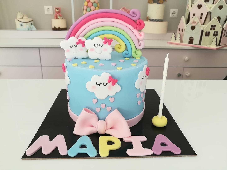 τούρτα από ζαχαρόπαστα rainbow ουράνιο τόξο, Ζαχαροπλαστεία στη καλαμάτα madame charlotte, τούρτες γεννεθλίων γάμου βάπτησης παιδικές θεματικές birthday theme party cake 2d 3d confectionery patisserie kalamata