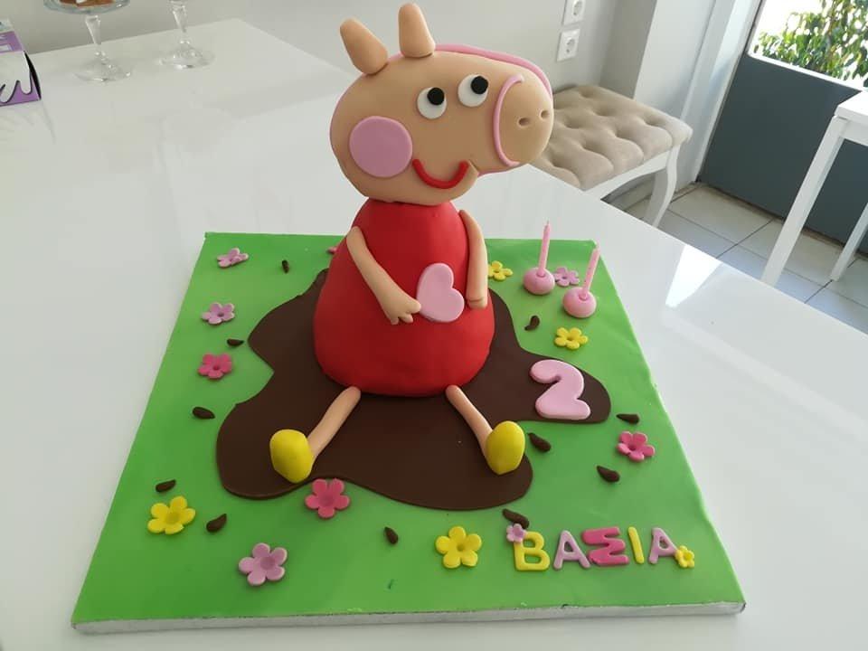 τούρτα από ζαχαρόπαστα πέπα, Ζαχαροπλαστείο καλαμάτα madame charlotte, τουρτες παρτι παιδικες γενεθλίων για αγόρια για κορίτσια για μεγάλους madamecharlotte.gr birthday theme cakes patisserie confectionery kalamata
