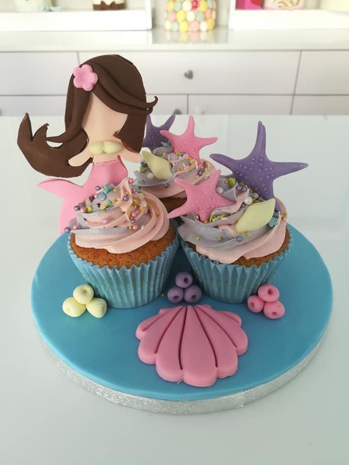 συνοδευτικά cup cakes γοργόνα mermaid, ζαχαροπλαστείο καλαμάτα madame charlotte, birthday wedding party cakes 2d 3d kalamata