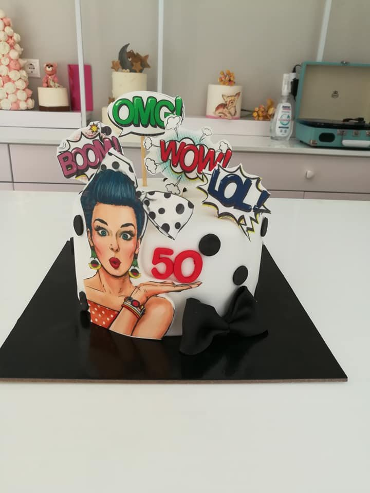 τούρτα από ζαχαρόπαστα omg i am 50 years old themed cake, Ζαχαροπλαστεία στη Καλαμάτα madame charlotte, τούρτες γεννεθλίων γάμου βάπτησης παιδικές θεματικές birthday theme party cake 2d 3d confectionery patisserie kalamata