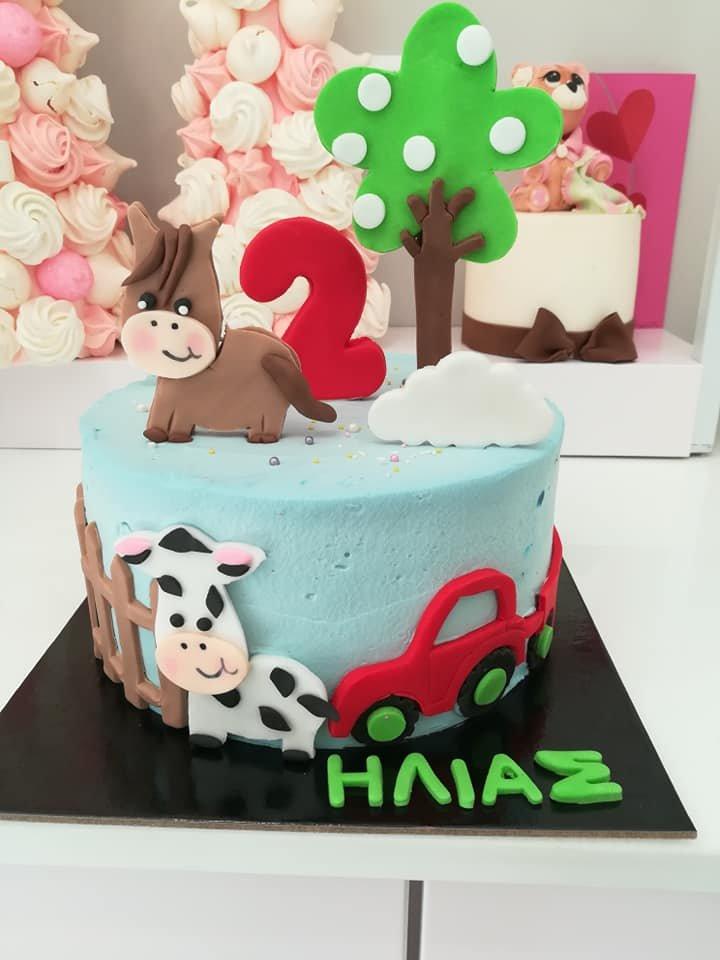 τούρτα χωρίς ζαχαρόπαστα δύο ετών,2 y o birthbay cake themed cake, ζαχαροπλαστείο Καλαμάτα madame charlotte, birthday wedding party cakes 2d 3d kalamata