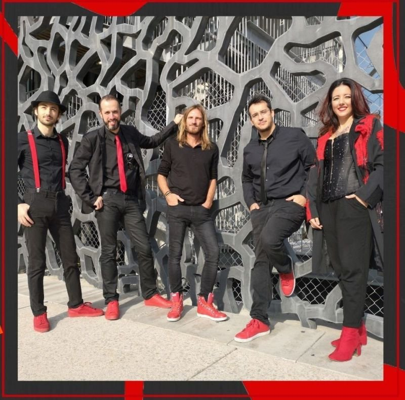 THE RED SHOES groupe complet(5), covers francais et anglais