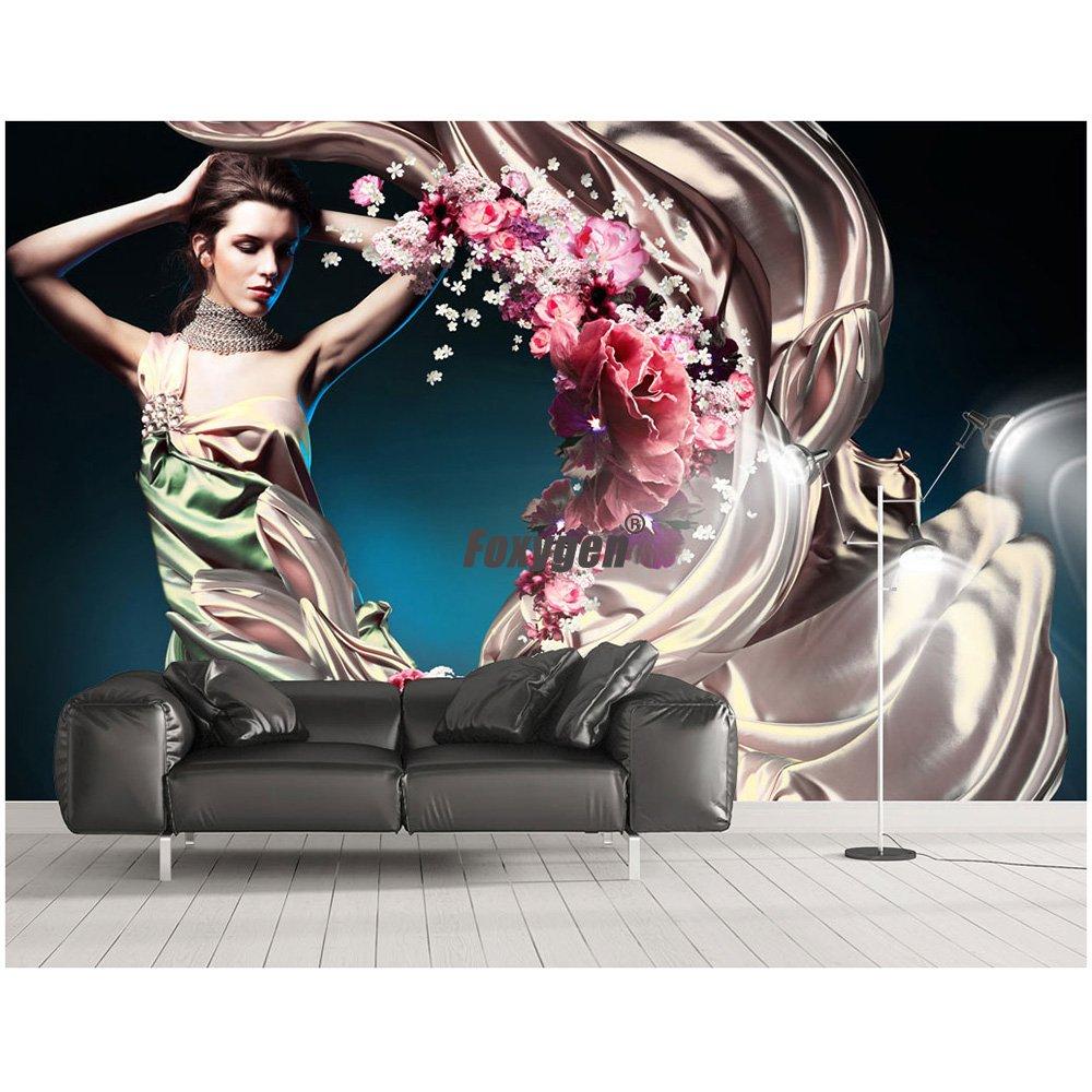 Good price of White 3D plus size hot sexy girl bikini print mural wallpape