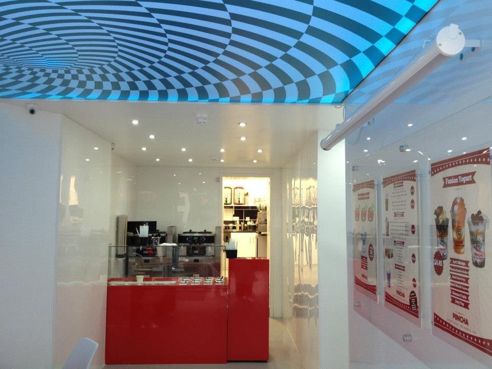 Soft uv print pvc stretch ceiling film construction technology