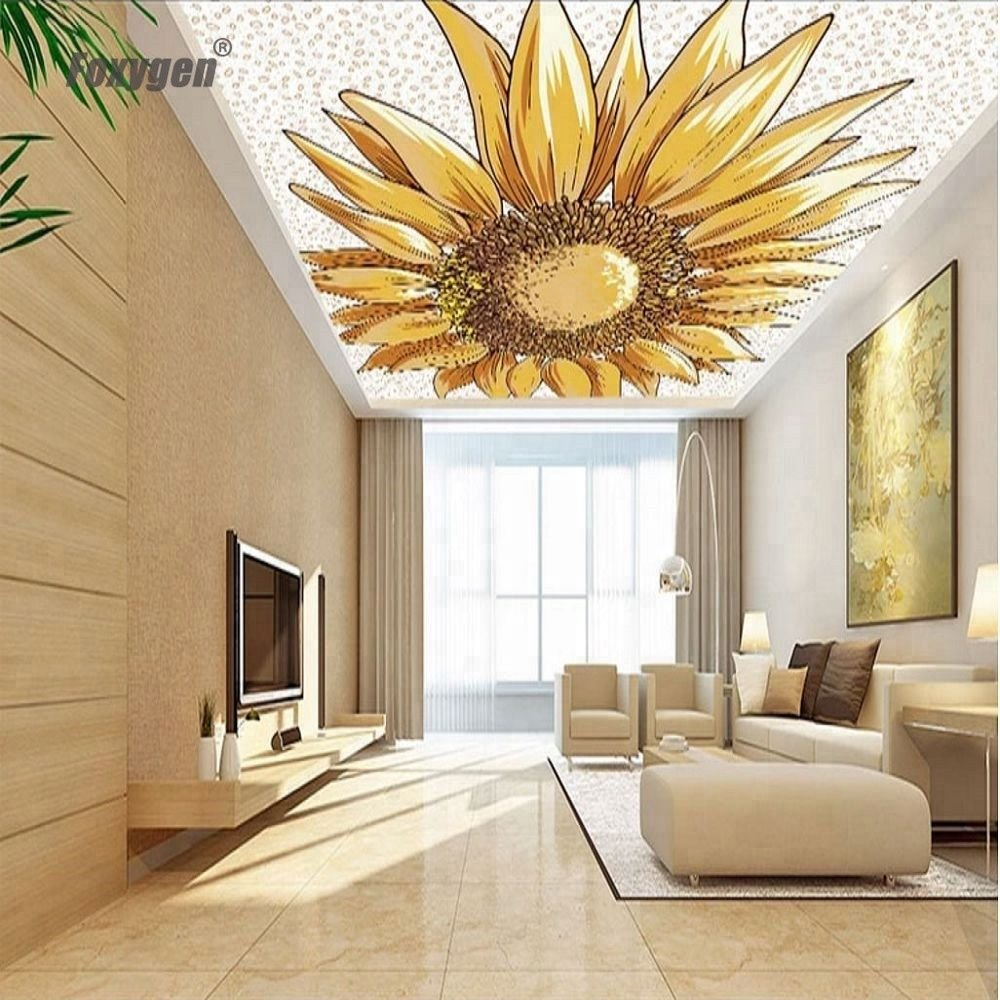 Foxygen ceiling and wall decoration decorative Stretch ceiling fabric material price 3d pvc stretch ceiling film