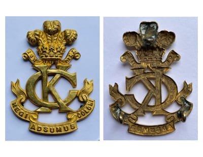 Second Pattern Regimental Headdress Officer's Badge
