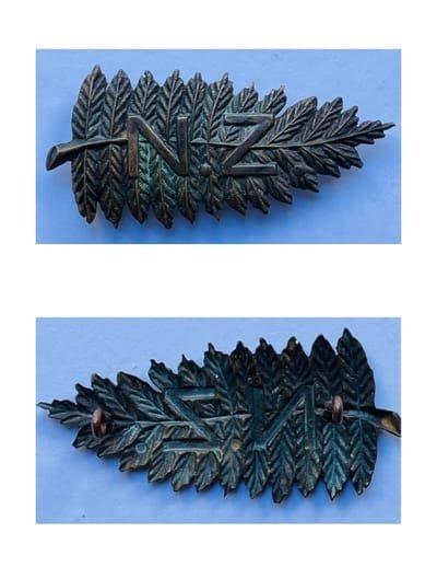 New Zealand Other Ranks' Headdress Badge - Copy & Officer's Collar Badge