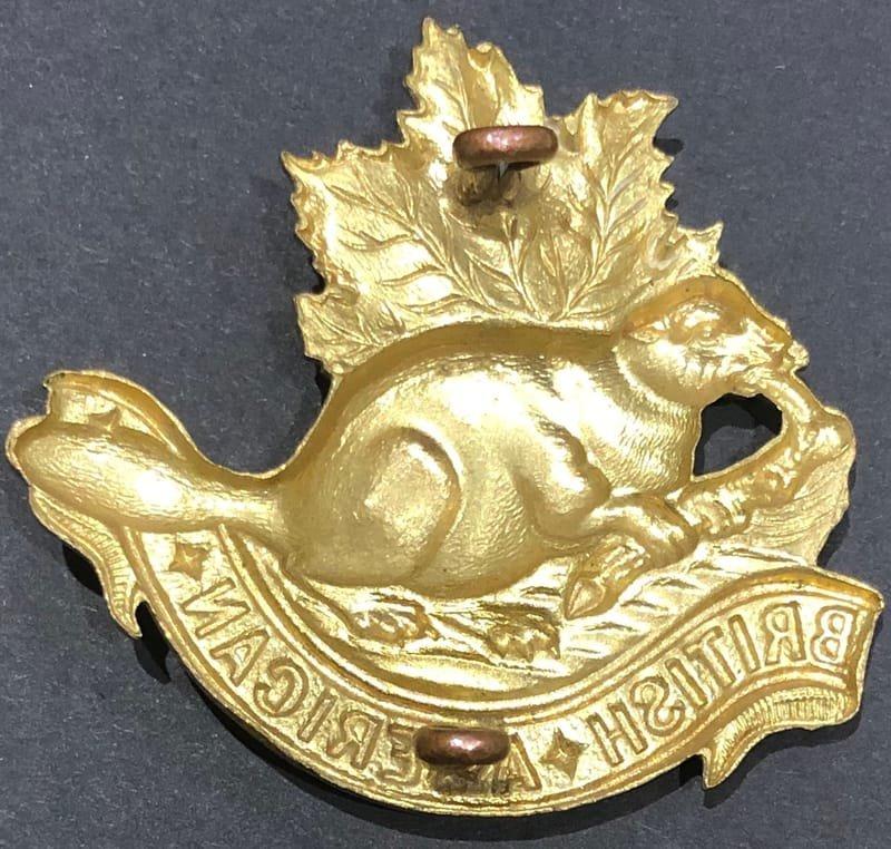British American Squadron Other Ranks' Headdress Badge - Genuine