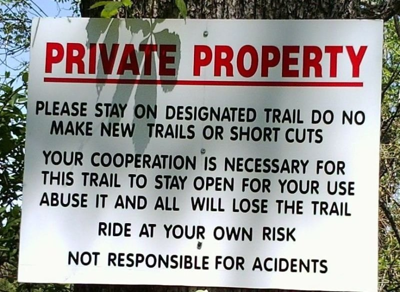 PRIVATE PROPERTY TRAIL MAINTENANCE