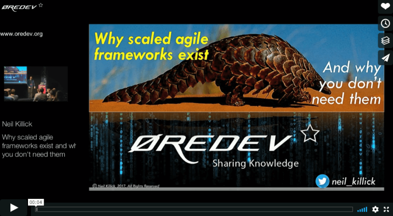 Why scaled agile frameworks exist and why you don't need them