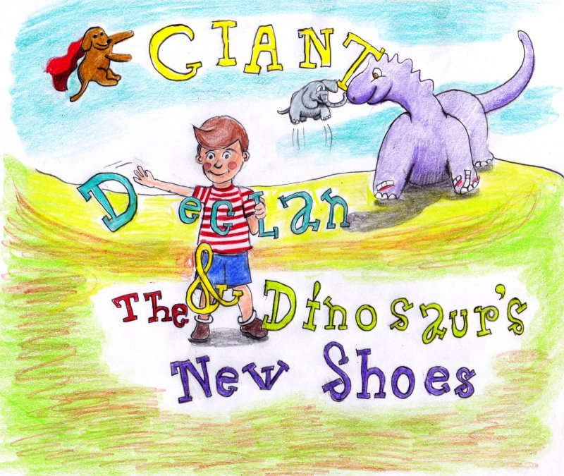 Giant Declan & the Dinosaur's New Shoes