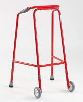 Image of a wheeled pulpit frame
