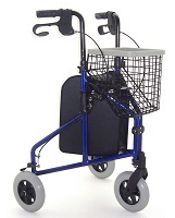 Image of a three-wheeled rollator