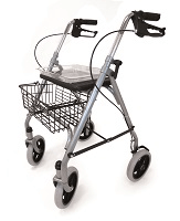 Image of a four-wheeled rollator