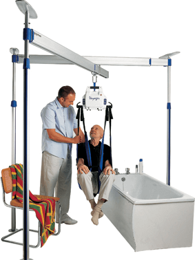 Image of a sling and hoist