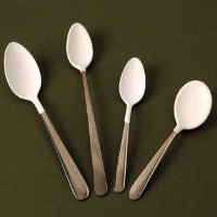 Non-metallic or plastic coated cutlery