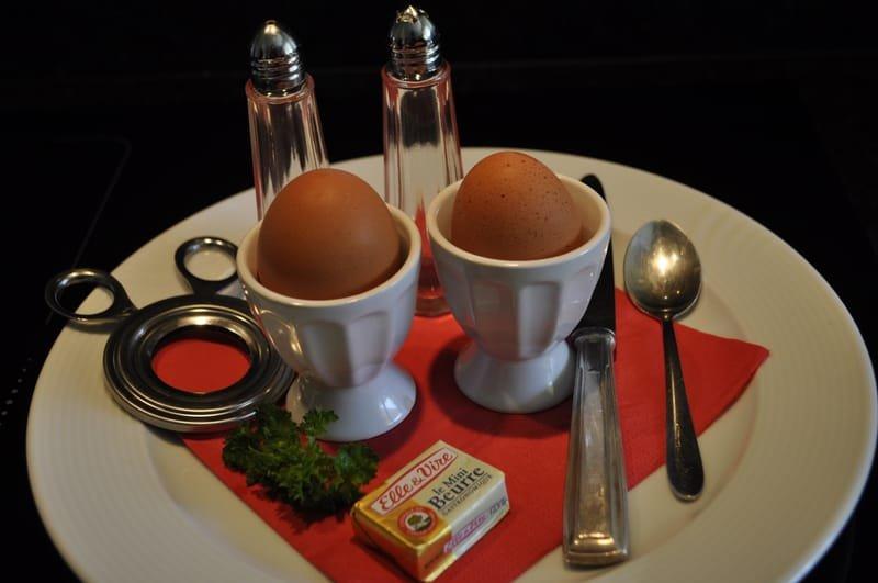 Les œufs frais de la ferme.