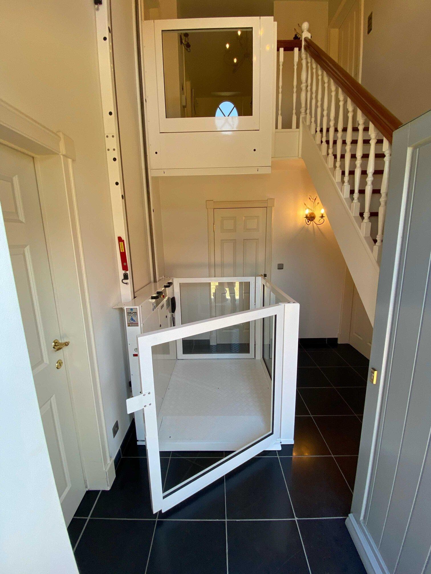 winda w mieszkaniu dwupoziomowym