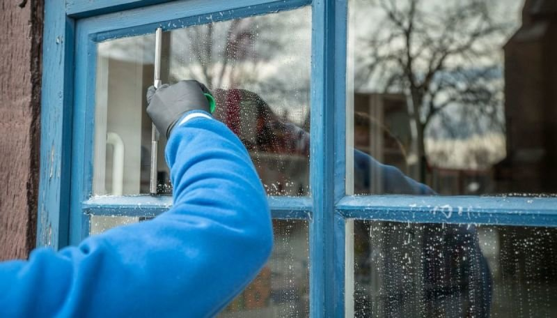 Lavage des vitres à domicile
