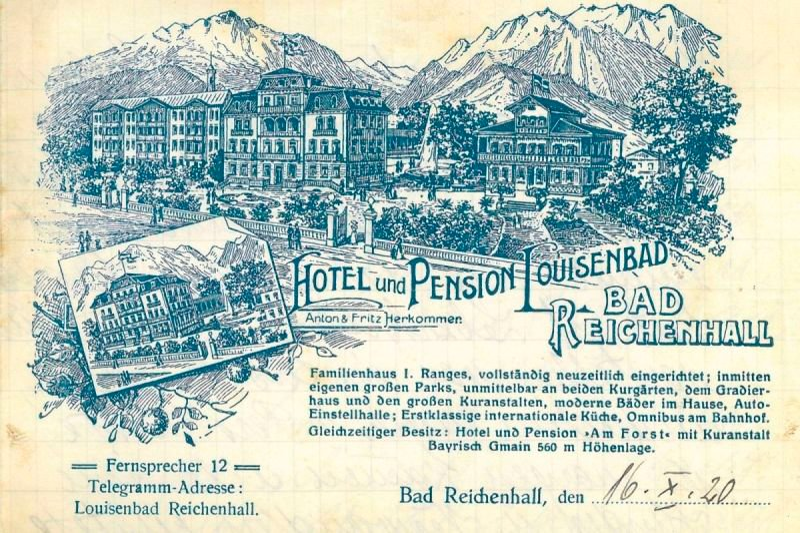 Briefpapier Hotel und Pension Louisenbad