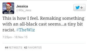Source: The Wiz Racist? Twitter Explodes In Furious Argument Over Show's All Black Cast