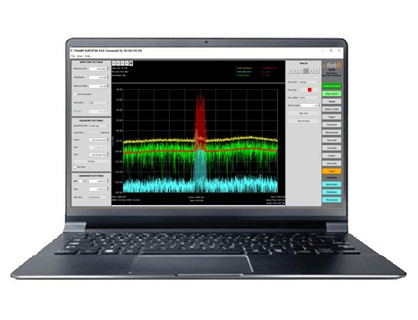 S240 Real-Time Spectrum Analysis Software Application for RF Test