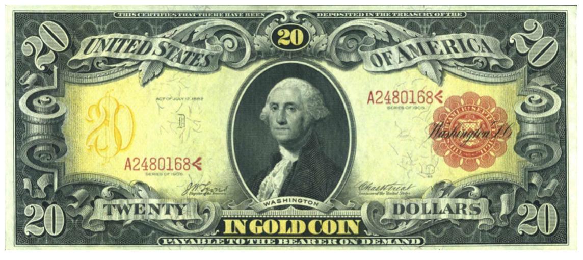 20 Dollar bankbiljet uit 1905