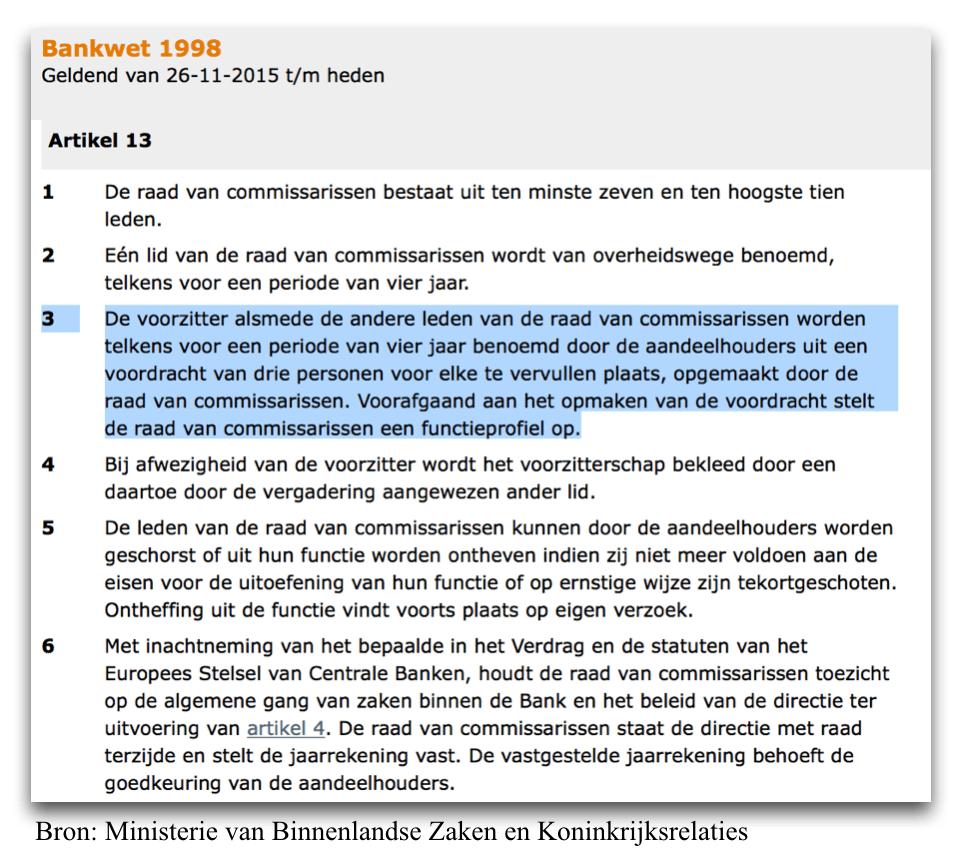 Artikel 13 van de Nederlandse bankwet