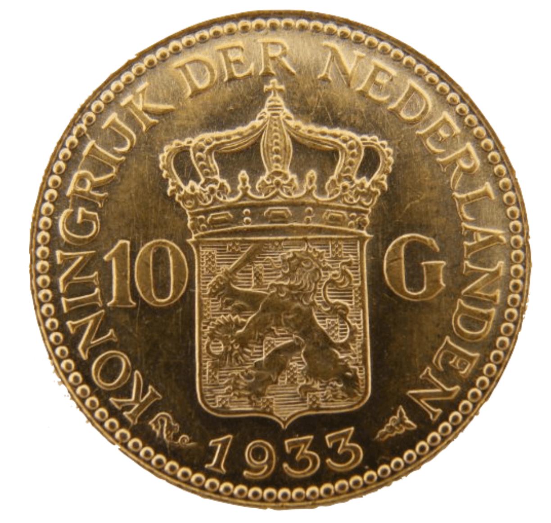 10 gouden gulden munt