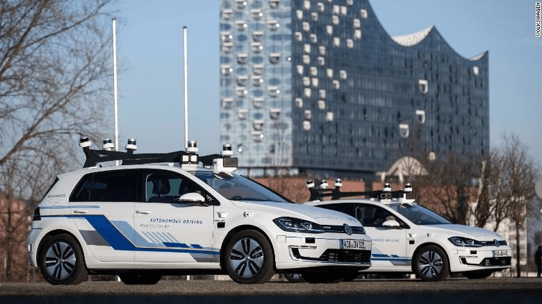 Volkswagen is testing autonomous vehicles in Hamburg, Germany. Source: Volkswagen