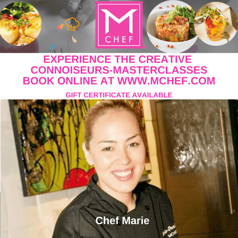 Master Cooking Classes: Have fun learning with Chef Marie while tasting GREAT FOOD!