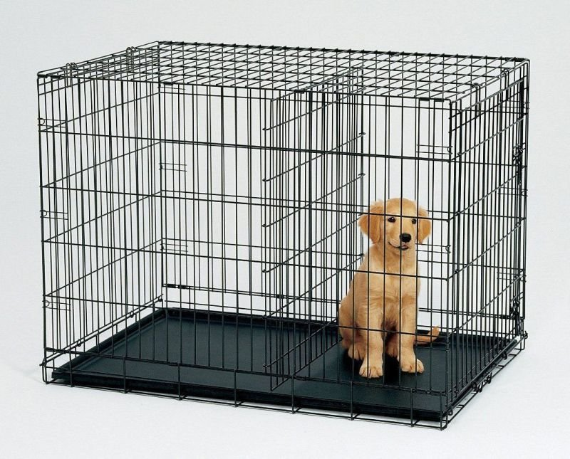 Crate with divider.