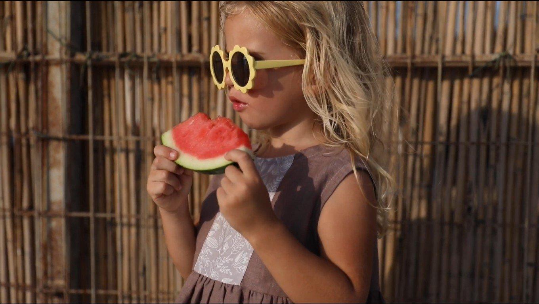 שמלה לילדות, עשויה 100% פשתן