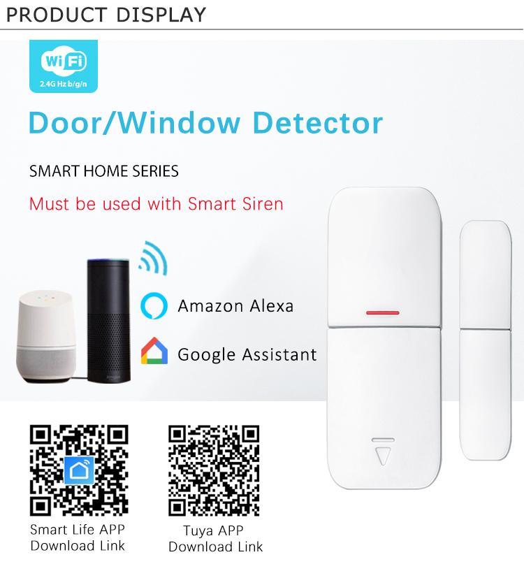 Tuya Smart Home Security Alarm System Door and Window Detectors Sensors Can Share The Same Siren Alarm