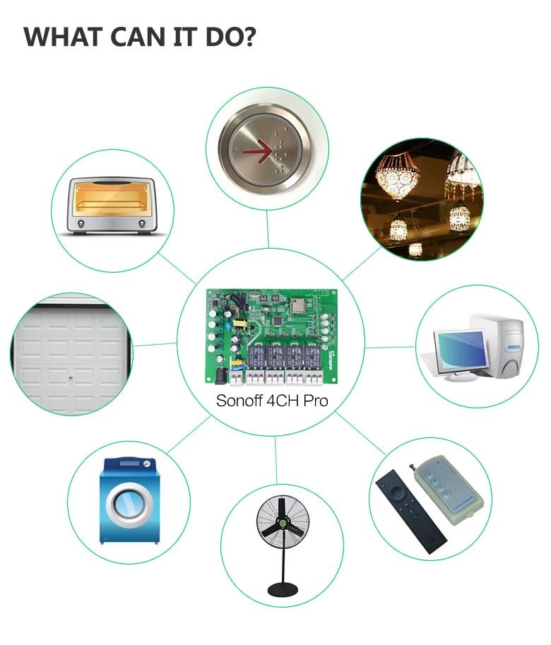 Sonoff 4CH Pro 4 Gang Inching Self-Locking Interlock WiFi RF Smart Switch named